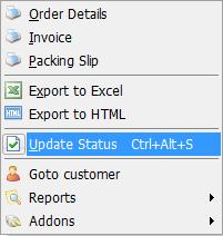 Update Order Status