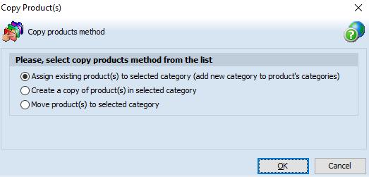 Copy product method