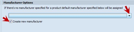 Manufacturer options