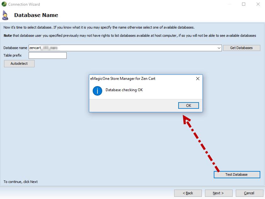 Database Name is OK